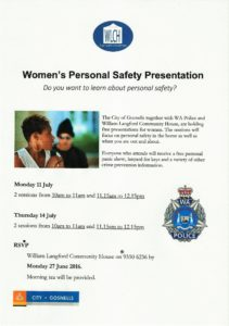 Personal Safety Workshop 2016